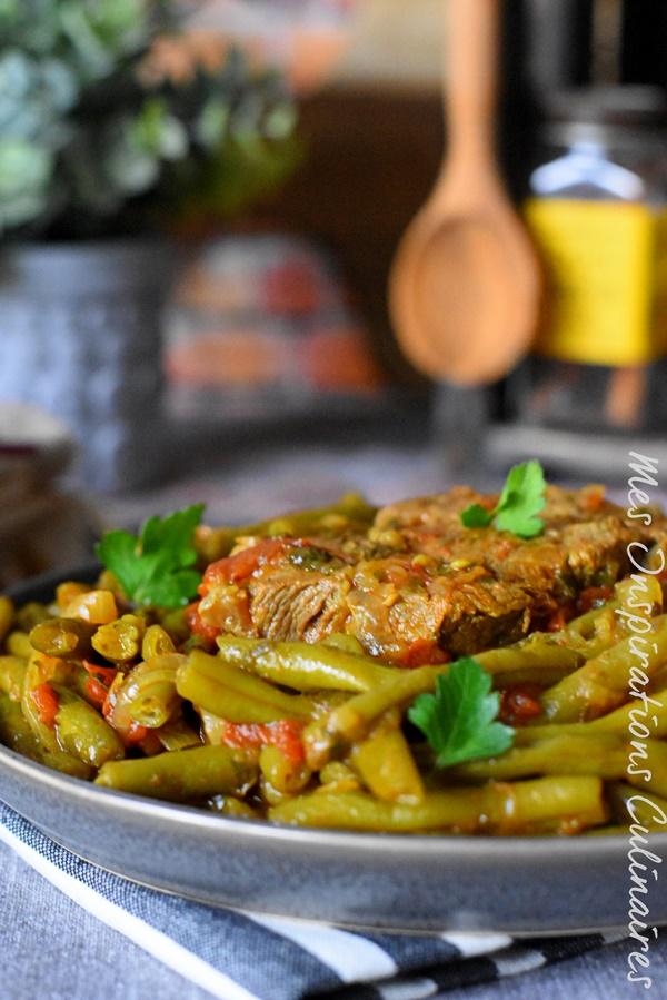 Recette agneau aux haricots verts cuisine algerienne