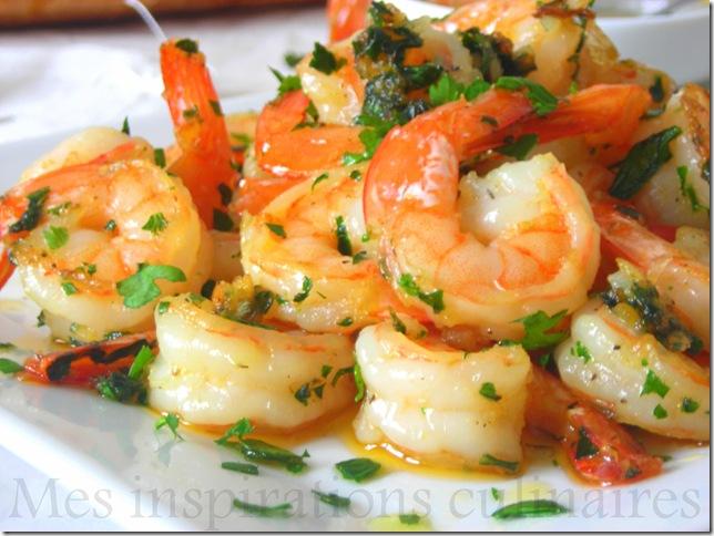 Crevettes saut es ail et persil le blog cuisine de samar - Comment cuisiner des crevettes roses ...