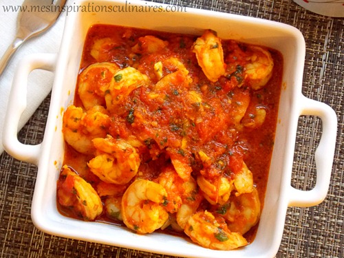 Crevettes sauce tomate
