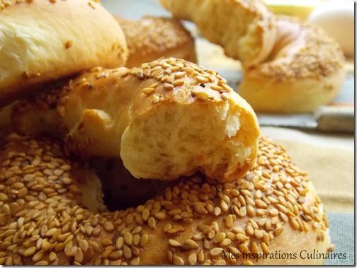 recette pain simit, pain turc de houriat el matbakh