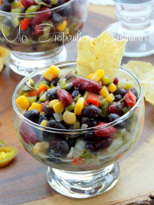 salade de haricots rouge et noirs a la mexicaine