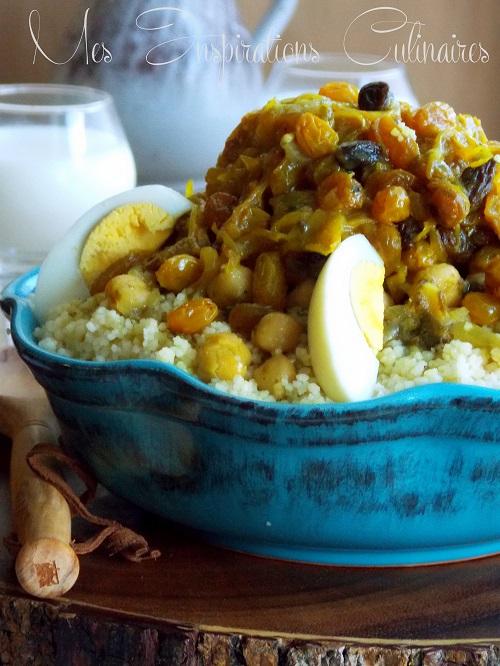 tfaya couscous marocain aux raisins secs et oignons caramelises 1