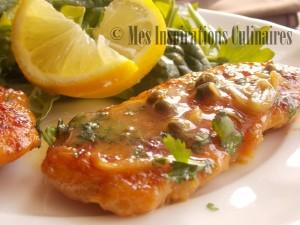 poulet piccata / Chicken piccata