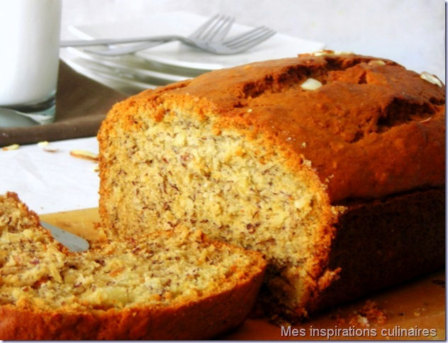 banana bread aux noix cake a la banane le blog cuisine de samar. Black Bedroom Furniture Sets. Home Design Ideas