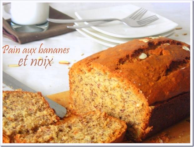 banana bread aux noix, cake a la banane