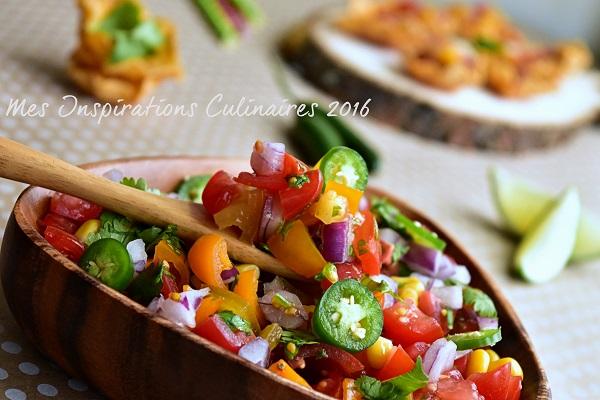 Recette Salsa de Tomates ou Pico de Gallo