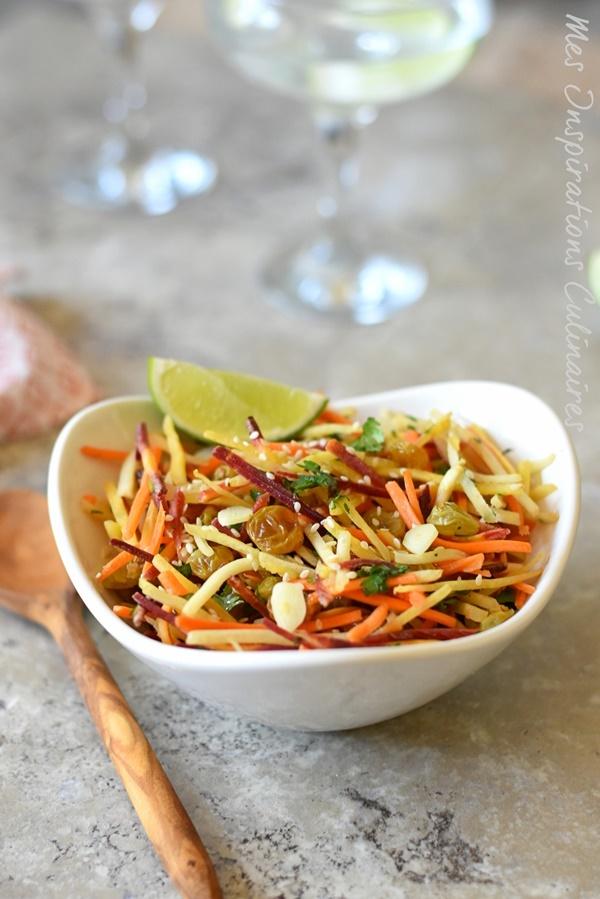 Salsa de carotte - Salade de carotte au cumin et raisins secs