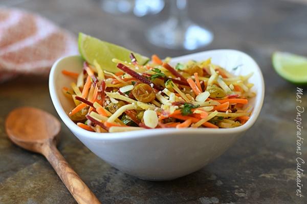 Salade de carotte au cumin et raisins secs