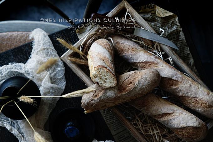 baguettes sans pétrissage au sirop d'agave