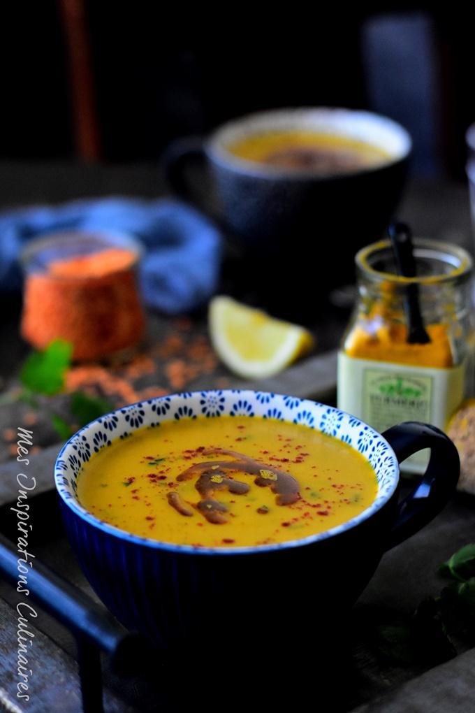la soupe de lentille corail egyptienne