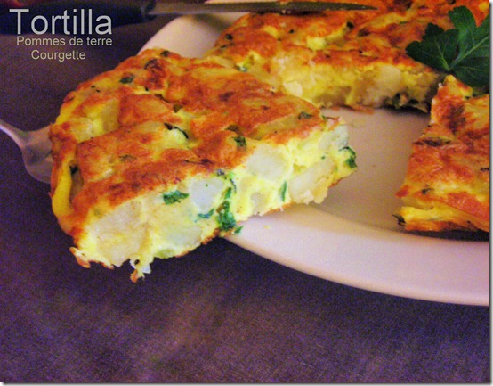 Tortilla aux courgettes pommes de terre le blog cuisine de samar - Recette de cuisine algerienne gratins ...