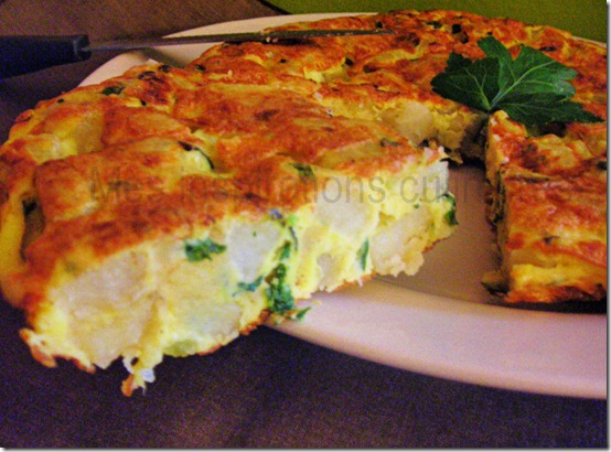 tortilla aux courgettes pommes de terre le blog cuisine de samar. Black Bedroom Furniture Sets. Home Design Ideas