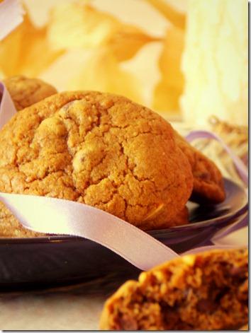 Cookies moka et pépites de chocolat / éclats d'amande