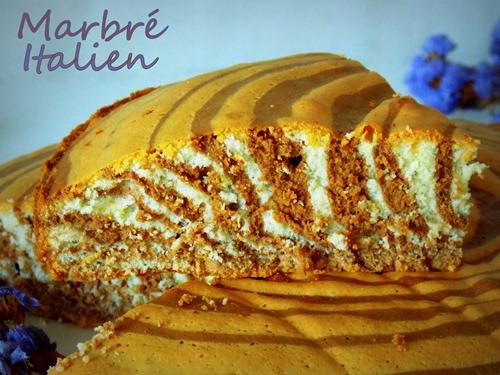 Zebra Cake ou marbré italien