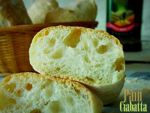 pain ciabatta, pain italien délicieusement bon / sans map
