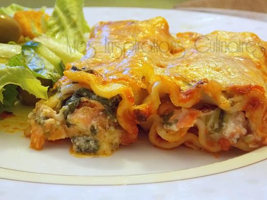 cannelloni au saumon et aux epinards