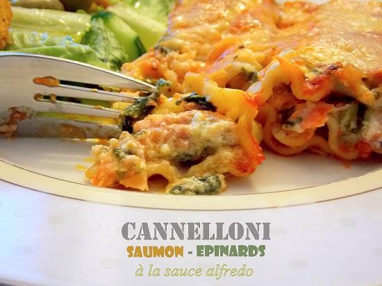 Cannelloni au saumon et épinards