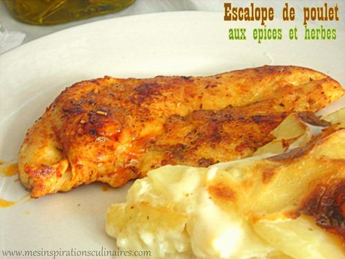 Escalope de poulet grill e pices et herbes le blog - Comment cuisiner des blancs de poulet ...