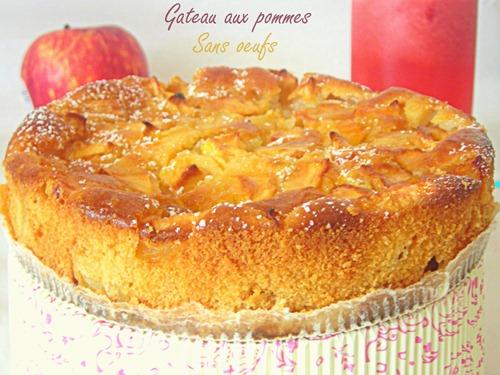 Gâteau aux pommes sans oeufs facile