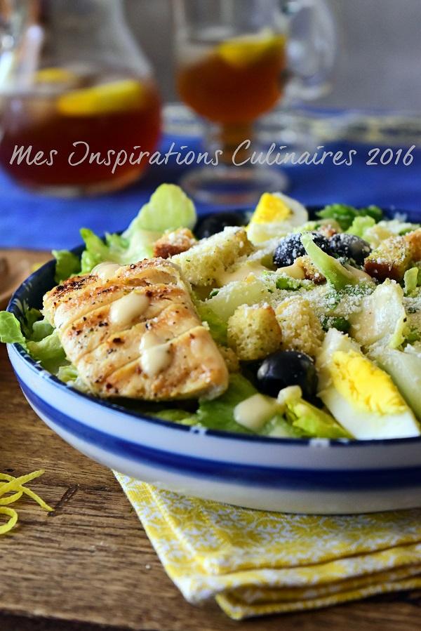 Salade César au poulet recette facile