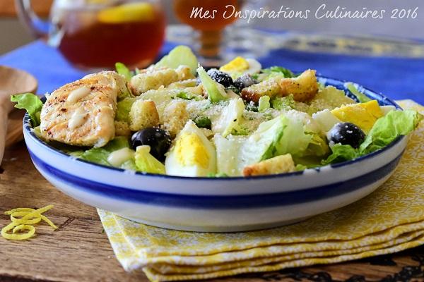 Salade César au poulet grille