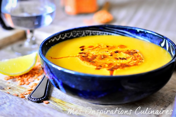 Velouté de lentilles corail soupe turque
