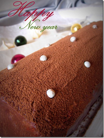 Buche au chocolat pralinoise