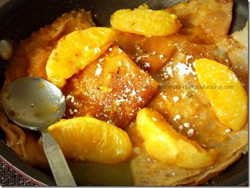 recette crêpes sans oeufs / sauce à l'orange