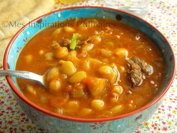 Loubia algerienne haricots blancs en sauce le blog - Comment cuisiner des blancs de poulet ...