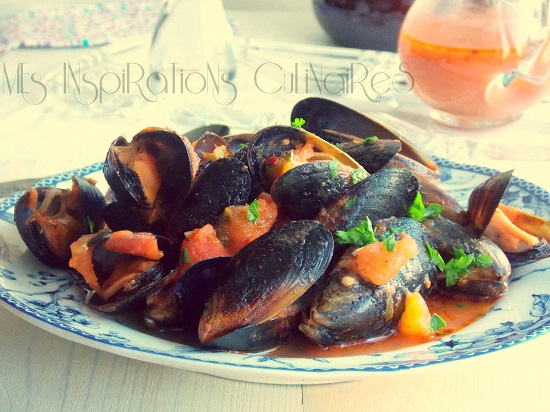 Moules sauce tomate