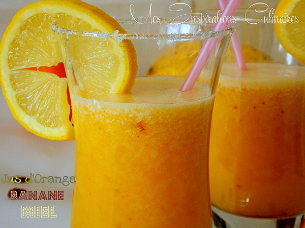 Jus d'orange banane (100% vitamine) | Le Blog cuisine de Samar