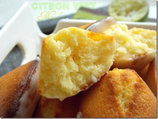 recette de madeleine facile {miel, citron vert}