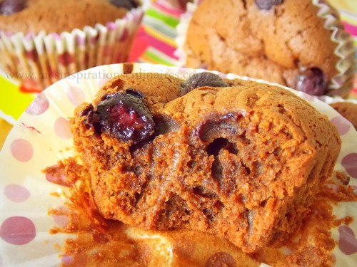 Muffins chocolat myrtilles de cyril lignac