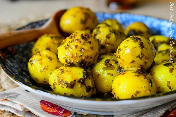 Pomme de terre à la sauce charmoula marocaine recette ramadan