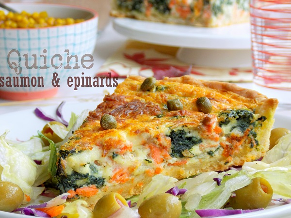 recette quiche au saumon pinards le blog cuisine de samar. Black Bedroom Furniture Sets. Home Design Ideas
