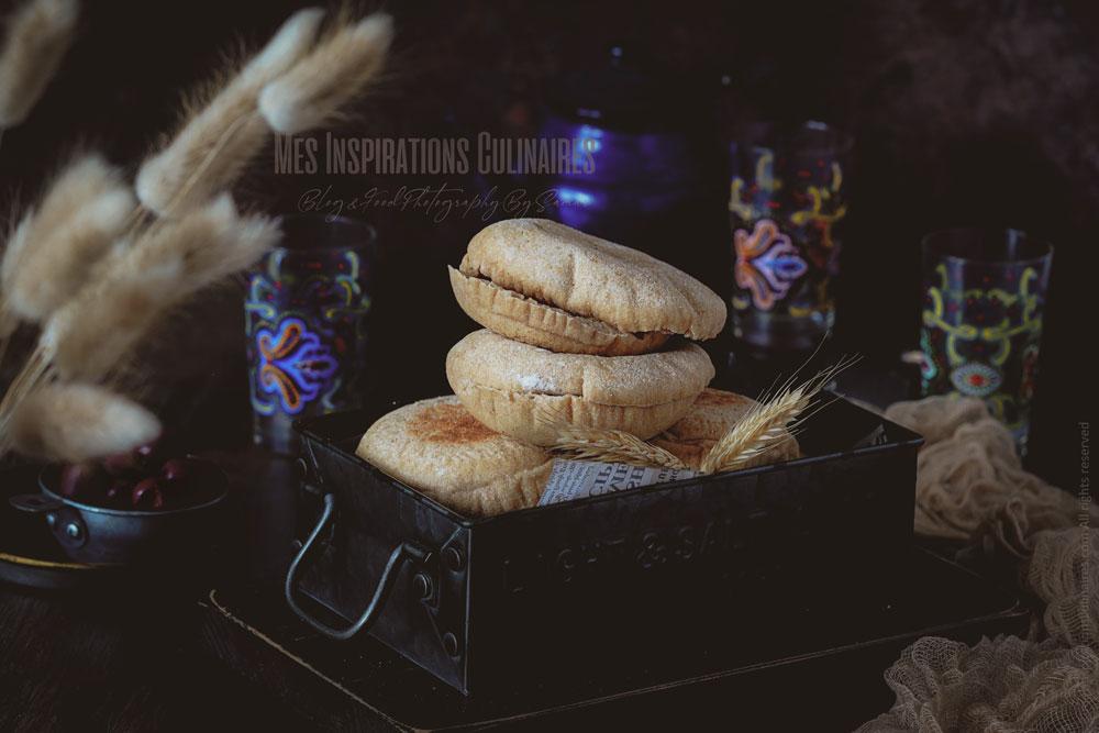 Pain cuit a la poêle marocain : Batbout