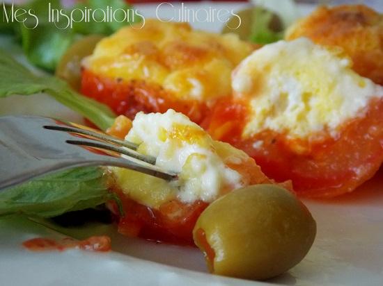 nid de tomates aux oeufs au four