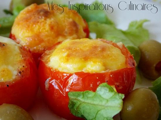 Nids de tomates aux oeufs