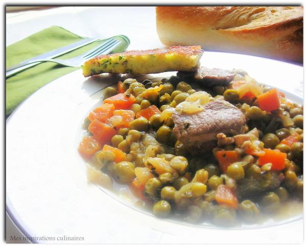 Tajine d'agneau aux petits pois et carottes