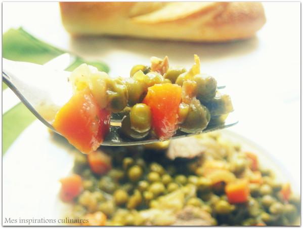 tajine petits pois et carottes