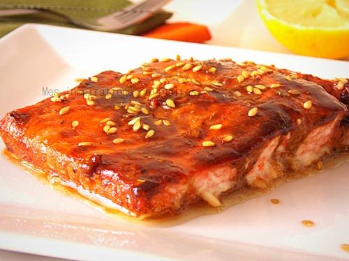 Saumon au vinaigre balsamique recette sucr e sal e le - Cuisiner du saumon au four ...