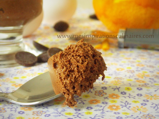mousse au chocolat et orange