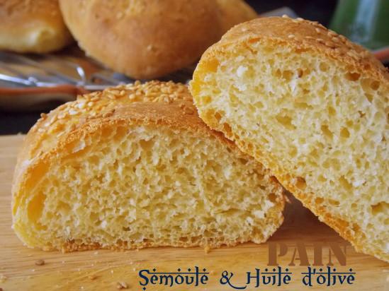 Pain la semoule cuisson au four le blog cuisine de samar - Comment faire griller du pain au four ...