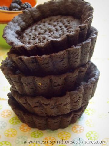 pâte sablée au cacao {sans oeufs}