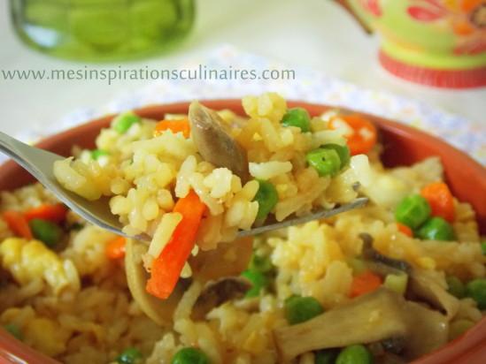 Riz façon asiatique facile / recette vegetarienne
