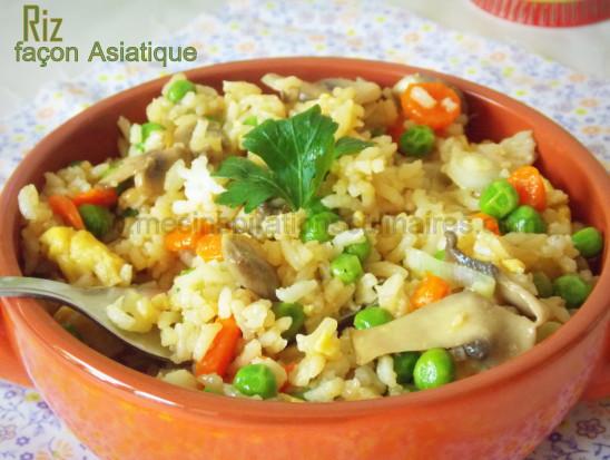 Riz fa on asiatique facile recette vegetarienne le - Comment cuisiner des petit pois en boite ...