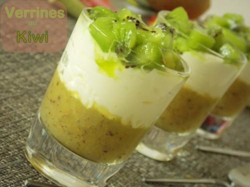 Verrines au kiwi facile / dessert ramadhan 2013
