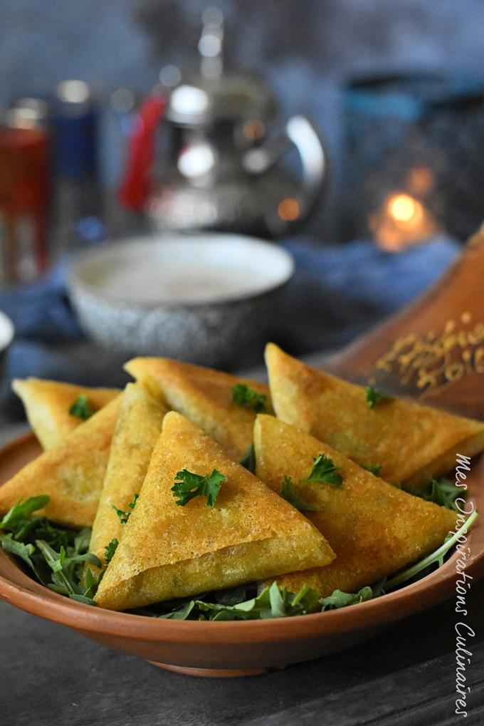 Bourek aux crevettes à la marocaine chermoula