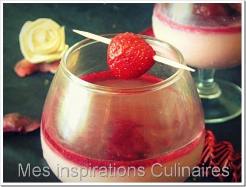 crème dessert framboise - citron vert & son coulis de fruits rouges
