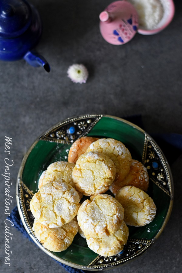Ghribia à la noix de coco, gateau sec algerien